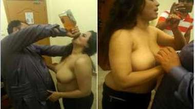 Drunk Paki man wants XXX girlfriend to drink alcohol before sex