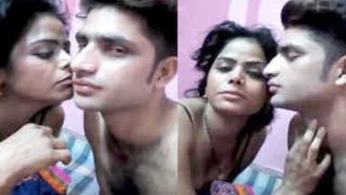 Indian love kisses her sex partner who films a XXX movie about their life
