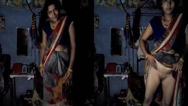 Dehati wife showing pussy selfie MMS video