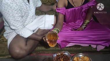 Telugu wife Sex with after drinking beer