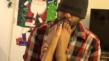 foot worship and cum on soles