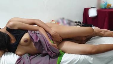 hot asian couple romantic lovemaking slow fuck අක්ක වැඩ ඇරිල ආවම
