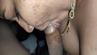 Friend's husband blowjob for busty bhabhi Hot Video