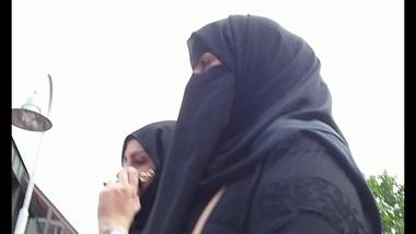 XXX Desi wolter's hijab bitch on the street