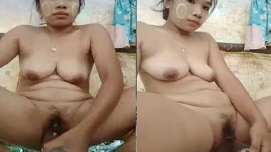 Tribal Desi Girl masturbating her hairy pussy harder