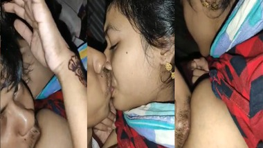 Bangla village maid gets her boobs by house owner's son