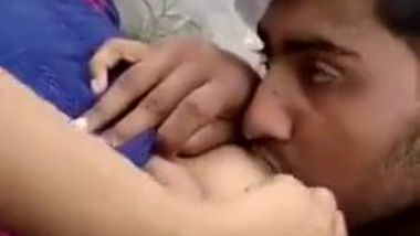 Youngster can't stop worshipping juicy Desi tits in the porn video