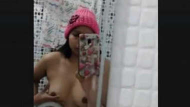 Sexy Desi girl Play with Her boobs