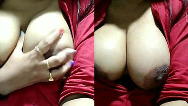 Fatty and naked Indian girl records special porn video for her man