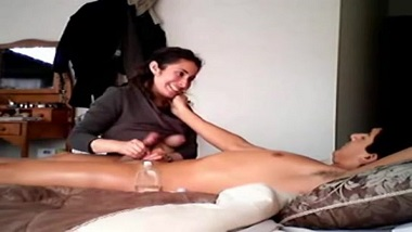 Real wife sex video caught on hidden cam