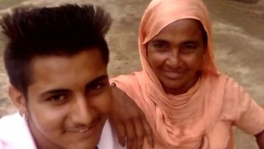 Boy and Desi MILF smile on camera thinking about upcoming porn video