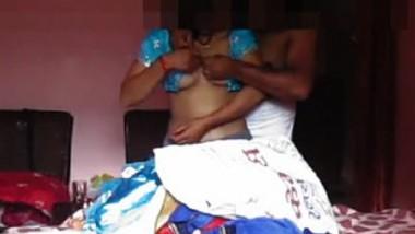 Desi husband wife romance in the room