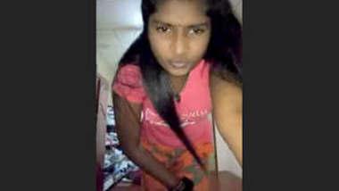 Desi Girl Capturing Selfie in Office Secretly