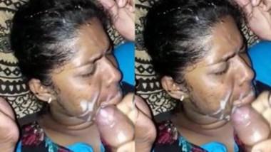 Husband Cum on wife Face