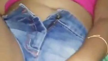 Desi girl in jean shorts begins day with being pawed by the cameraman
