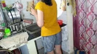 Desi Savitha Fucked by Lover at Kitchen Hard