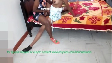 Just Two Horny Ladies In Ankle Socks Figering and Fondling Breasts
