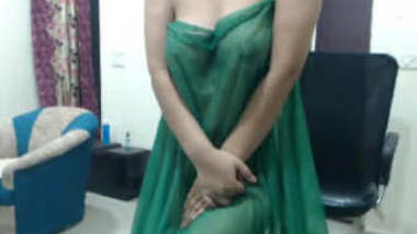 Desi Girl In Transparent Wet Saree Showing Boobs Hot Show