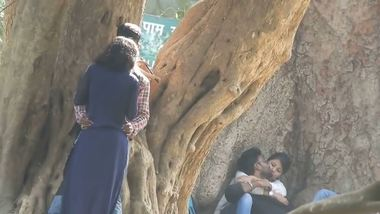 Indian college couples outdoor romance