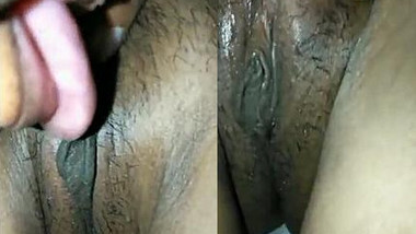 Before sex Desi guy with camera worships girlfriend's wet XXX pussy