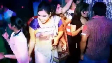 cute bangla aunty dancing in private party