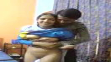 Village college girl Hema's home sex with lover mms
