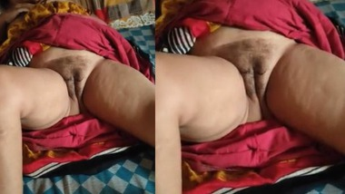 Dehati wife naked pussy recorded on cam