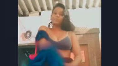 Village girl making video for lover
