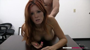 Hot Red Head Babe Dani Tries Sex On Camera For The 1st Time!